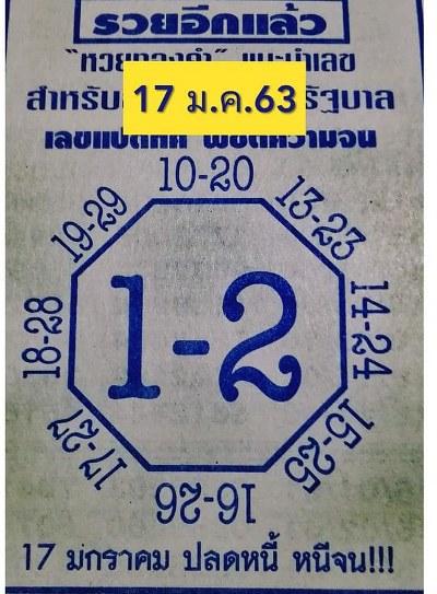 เลขแปดทิศ 17/1/63 [เข้าต่อเนื่อง 2 งวดซ้อน]