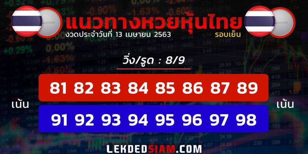 แนวทางหวยหุ้นไทยวันนี้