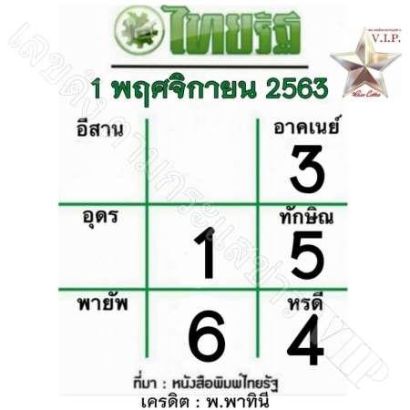หวยไทยรัฐ-1-11-63