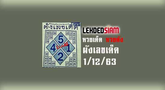 ผังเลขเด็ด 1/12/63