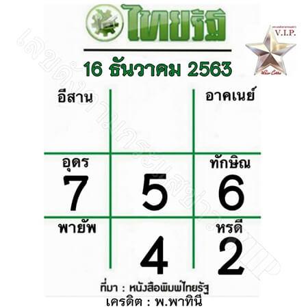 หวยไทยรัฐ-16-12-63