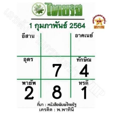 หวยไทยรัฐ-1-2-64
