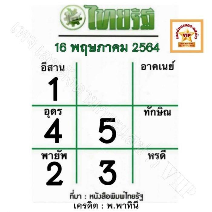 หวยไทยรัฐ-16-5-64