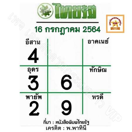 หวยไทยรัฐ-16-7-64