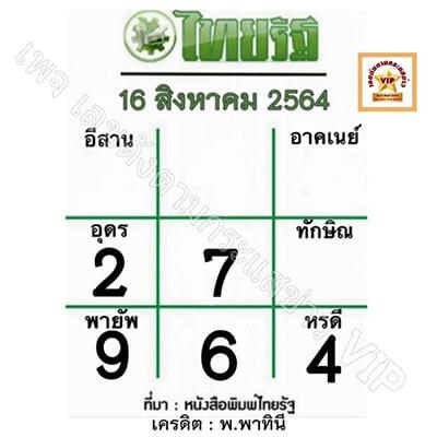หวยไทยรัฐ-16-8-64