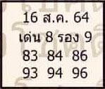 หวยลุงโชคดี 16/8/64