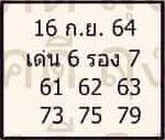 หวยลุงโชคดี 16/9/64